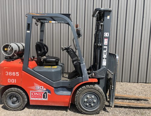 Forklift, 6,000# Warehouse Straight Mast